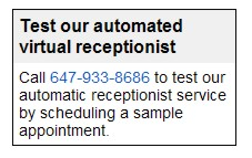 Voice Scheduling with Virtual Receptionist